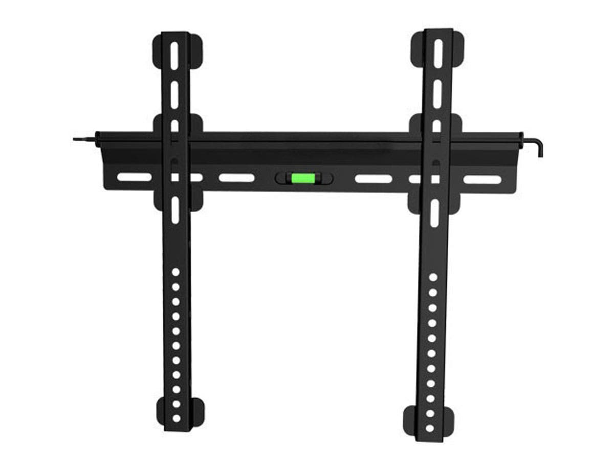 Monoprice Ultra-Slim Fixed TV Wall Mount Bracket For TVs 32in to 55in, Max Weight 121 lbs, VESA Patterns Up to 400x400, Security Brackets, Works with Concrete & Brick-Large-Image-1
