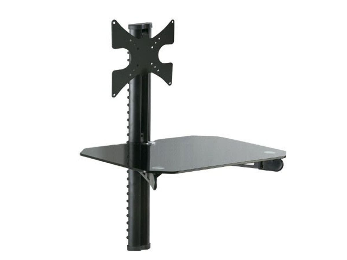 Wall Mount Bracket with DVD Shelf for 10~32in TVs up to 66 lbs, Black
