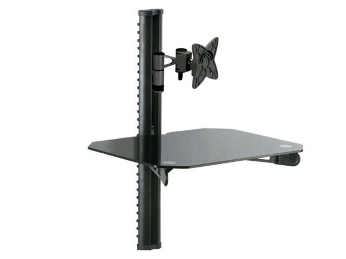 Monoprice Floating Wall Mounted Shelf Bracket - For TVs 10in to 23in, Max Weight 33lbs, VESA Patterns Up to 100x100-Large-Image-1