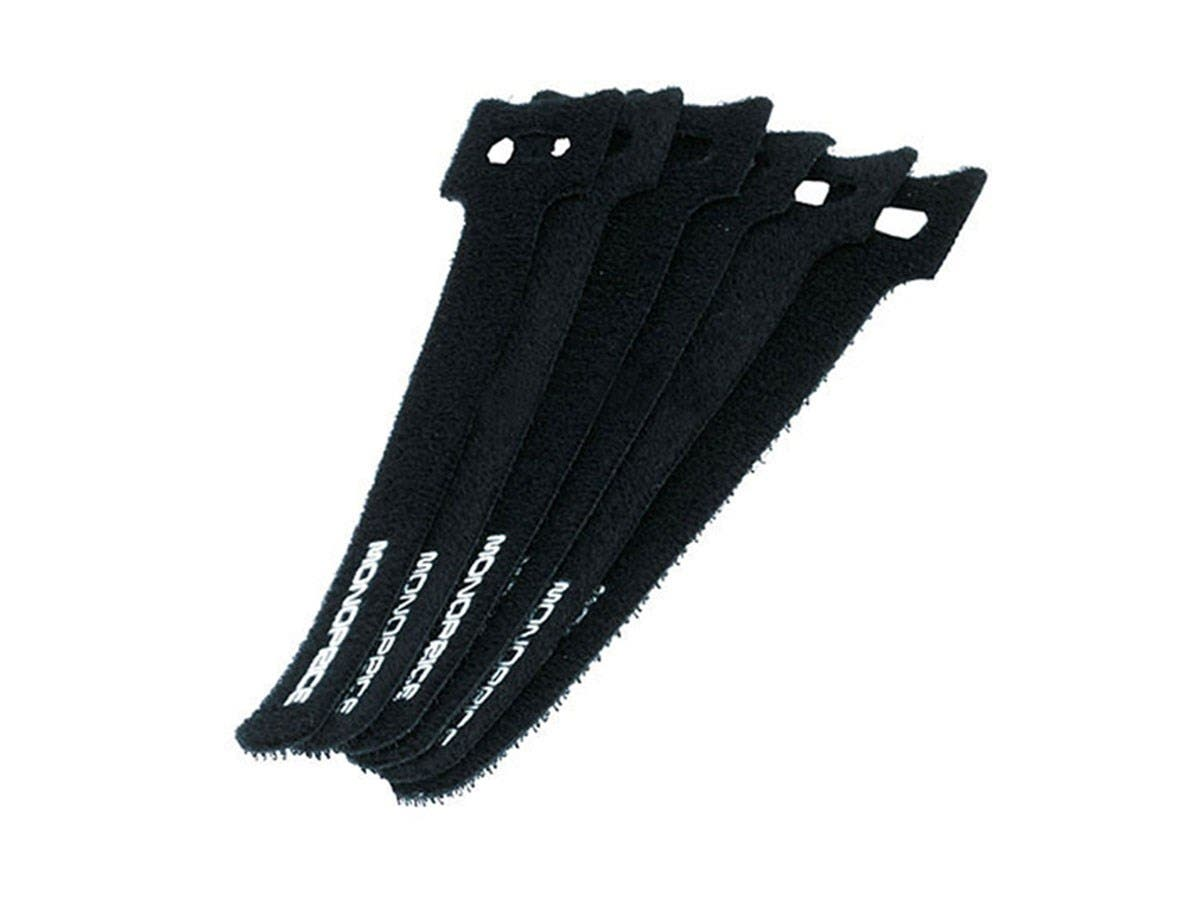 Monoprice Hook and Loop Fastening Cable Ties, 6 in, 50 pcs/pack, Black-Large-Image-1