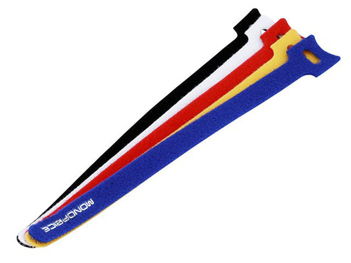 Hook and Loop Fastening Cable Ties, 9 in, 100 pcs/pack, 5 Colors