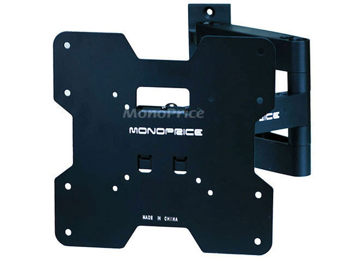 Monoprice Titan Series Full Motion TV Wall Mount Bracket - For TVs 20in to 42in, Max Weight 80lbs, Extension Range of 3.2in to 16.5in, VESA Patterns Up to 200x200-Large-Image-1
