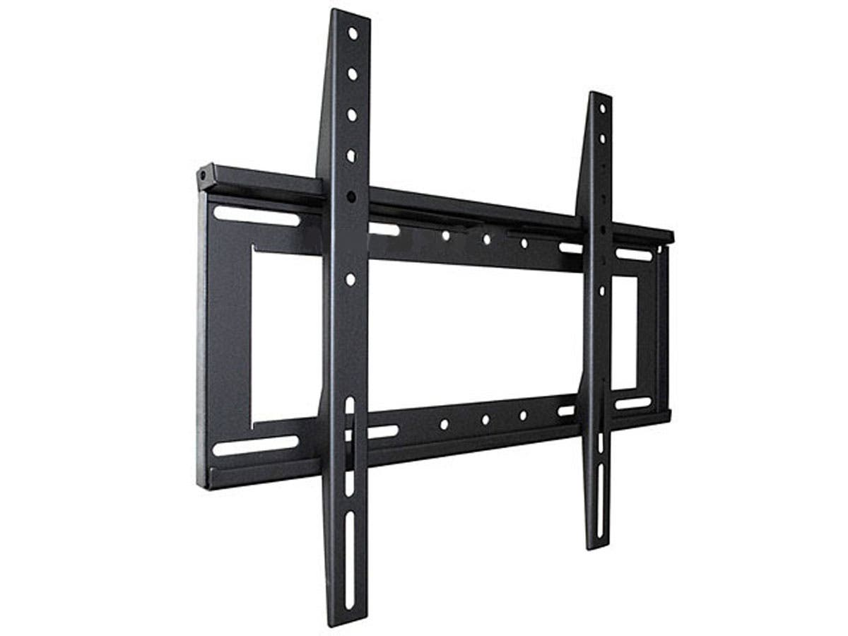 monoprice fixed tv wall mount bracket for tvs 32in to 52in max weight 125lbs vesa patterns. Black Bedroom Furniture Sets. Home Design Ideas