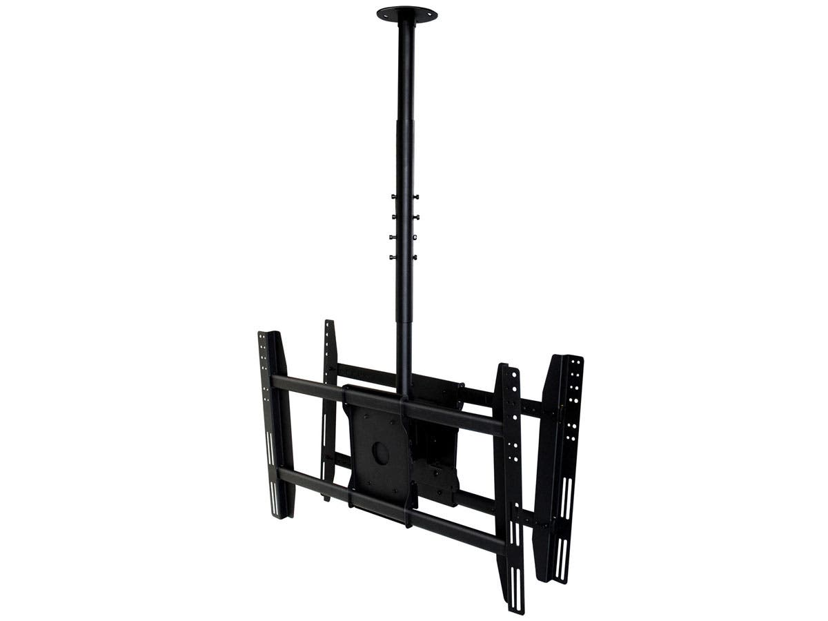 dual sided ceiling tv wall mount for most 3255in displays up to 125 lbs - Tv Ceiling Mount