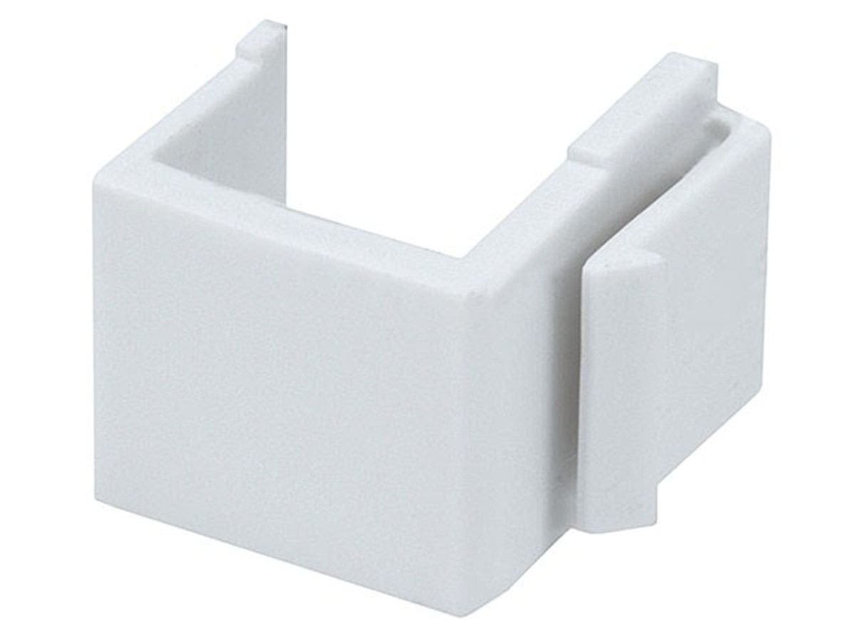 Monoprice Blank Insert For Wall Plate, 10 pcs/pack, White-Large-Image-1