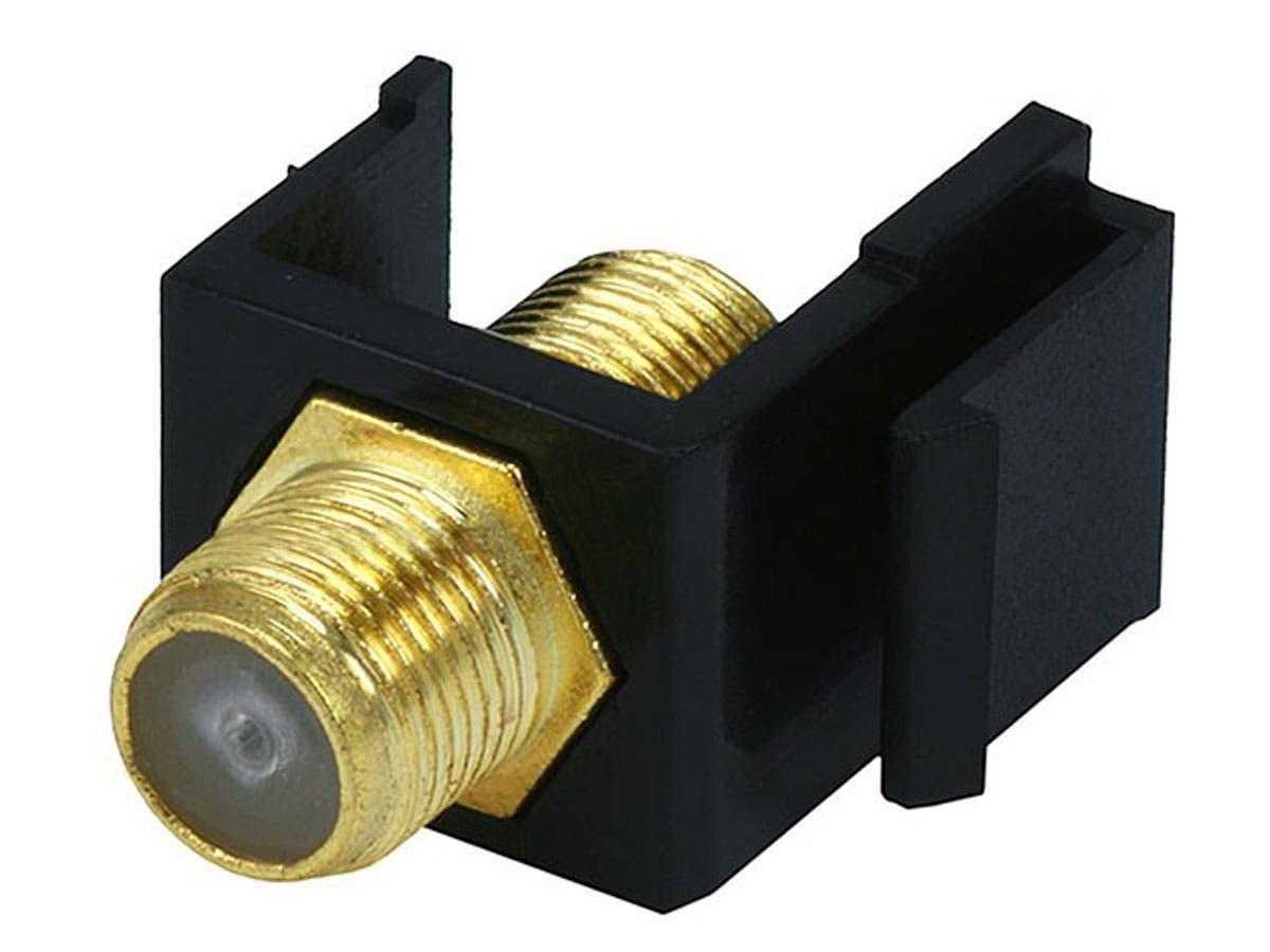 Keystone Jack - Modular F Type (Black)