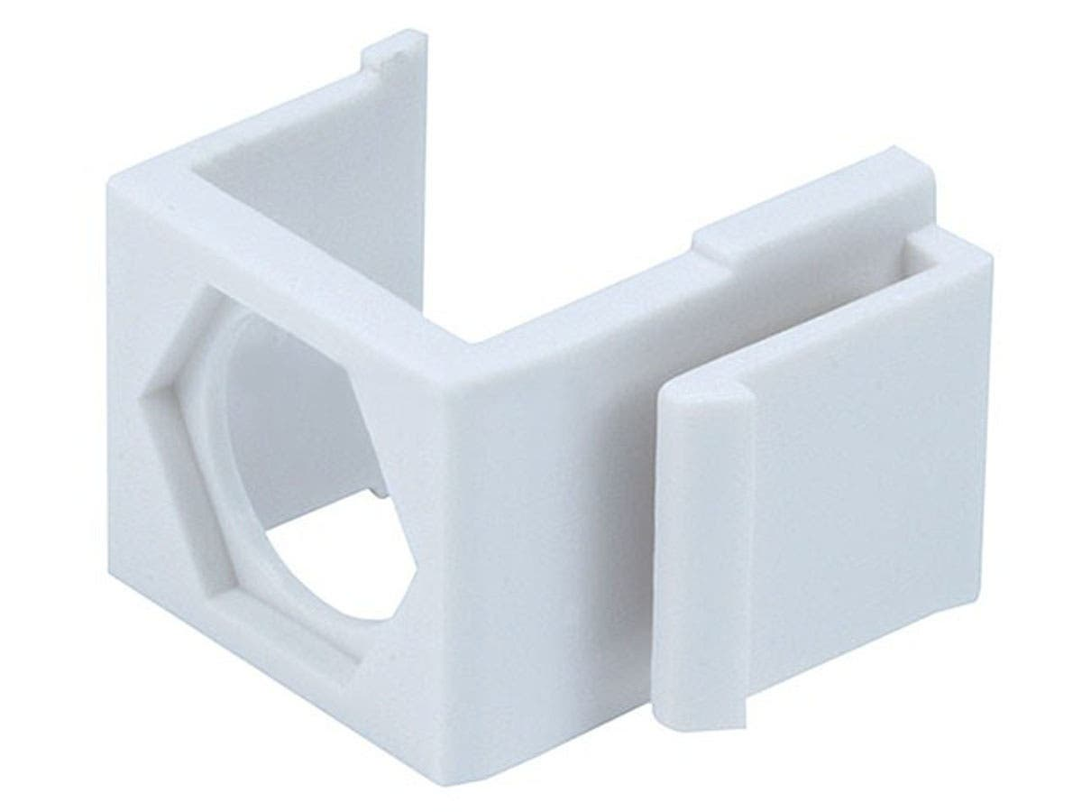 Monoprice Blank Insert for F-type Connector, 10 pcs/pack, White-Large-Image-1