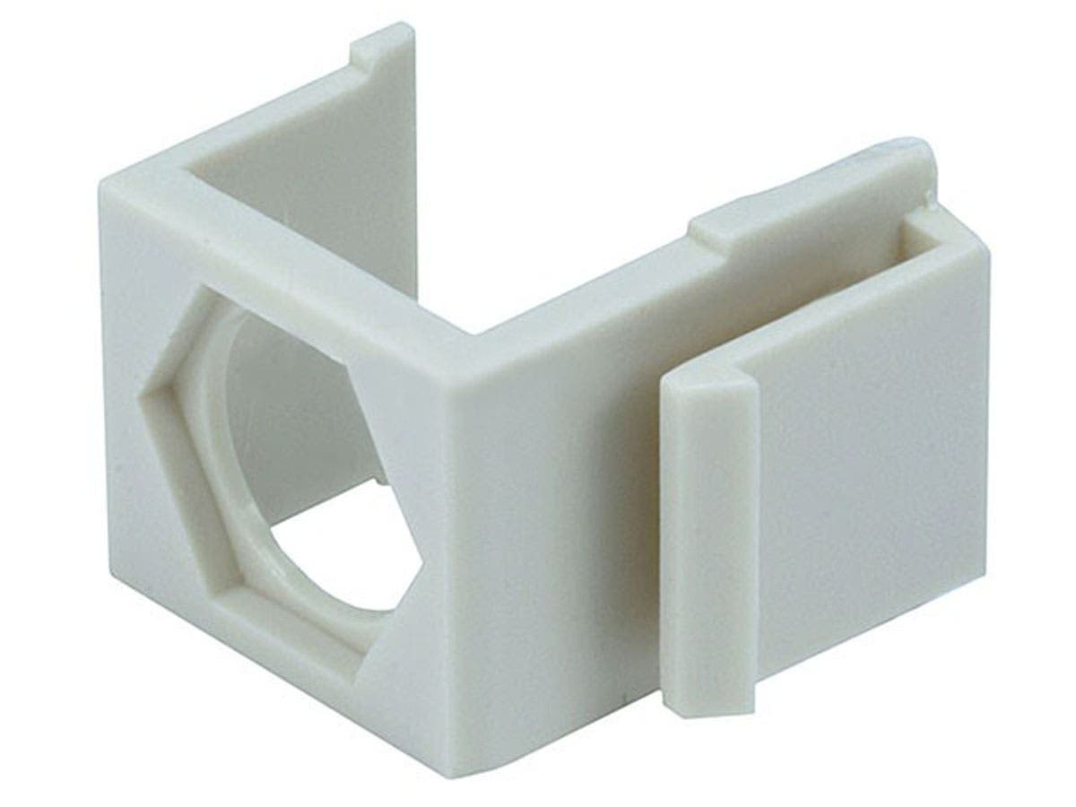 Blank Insert for F-type Connector, 10 pcs/pack, Ivory