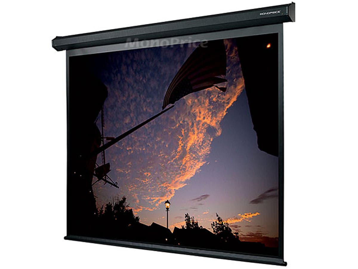 150 Inch 4 3 Matte White Fabric Motorized Projection