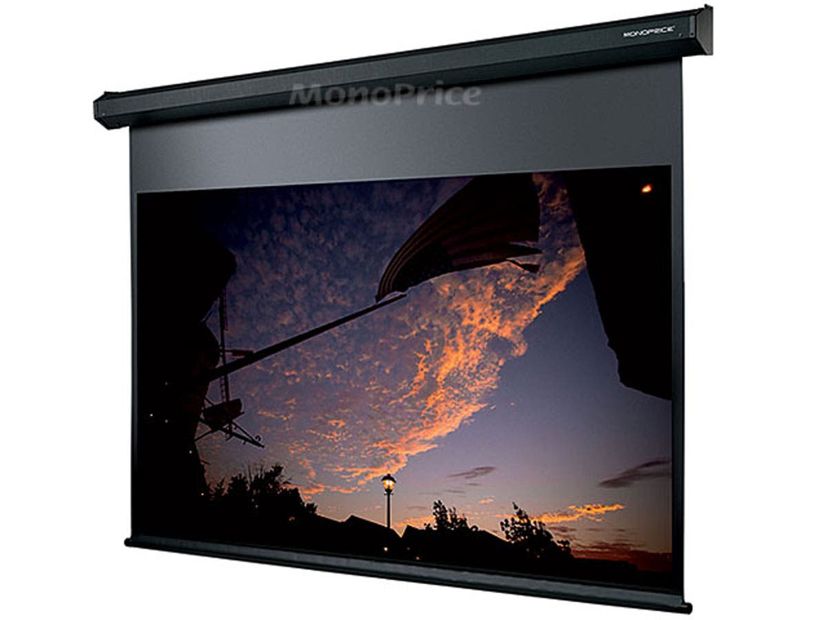 120in 16 9 Matte White Fabric Motorized Projection Screen