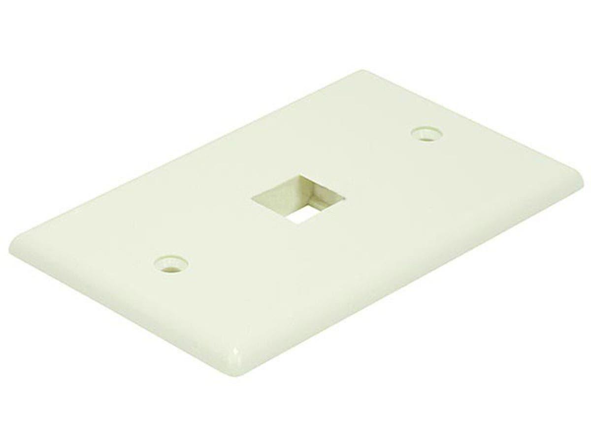 Wall Plate for Keystone, 1 Hole - Ivory