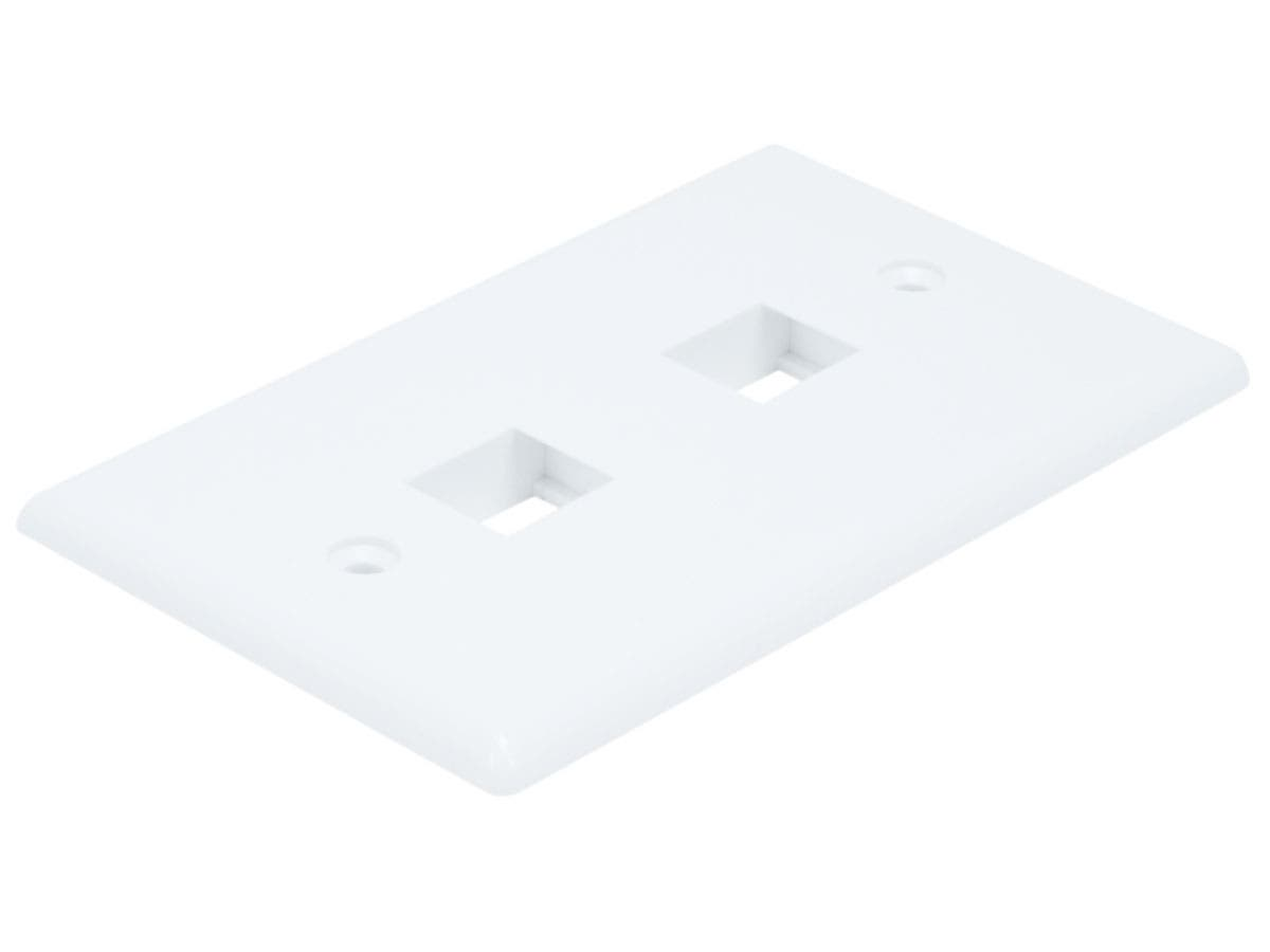 Wall Plate for Keystone, 2 Hole - White