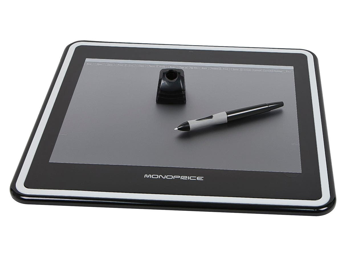 Monoprice 12x9in Graphic Drawing Tablet with 4000LPI, 200RPS, and 1024 Pressure Levels-Large-Image-1