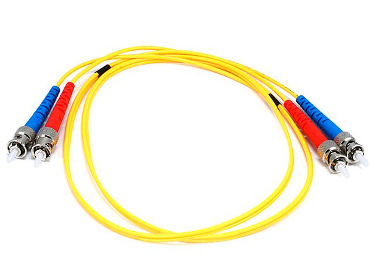 Fiber Optic Cable, ST/ST, Single Mode, Duplex - 1 meter (9/125 Type) - Yellow