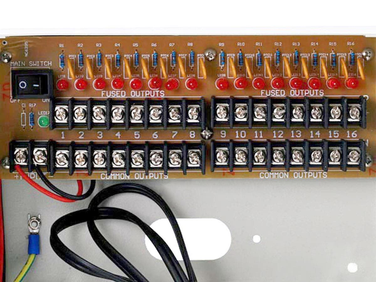 68754 16 channel cctv camera power supply 12vdc 10amps monoprice com 18 Channel CCTV Power Supply at bayanpartner.co