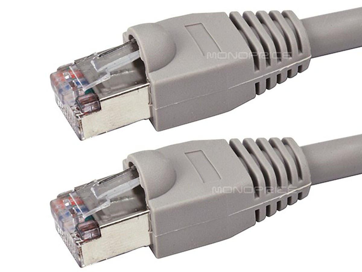Monoprice Cat5e Ethernet Patch Cable - Snagless RJ45, Stranded ...