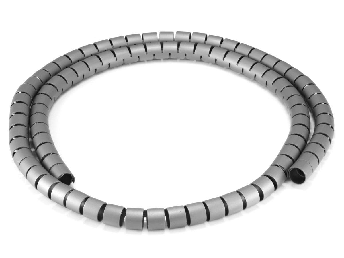 Monoprice Spiral Wrapping Bands - 15mm x 1.5m (Gray)-Large-Image-1