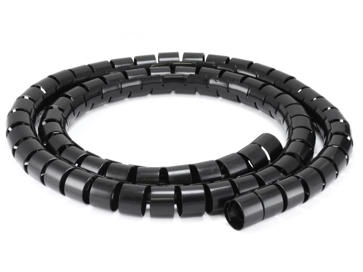 Monoprice Spiral Wrapping Bands - 30mm x 1.5m (Black) - Monoprice.com