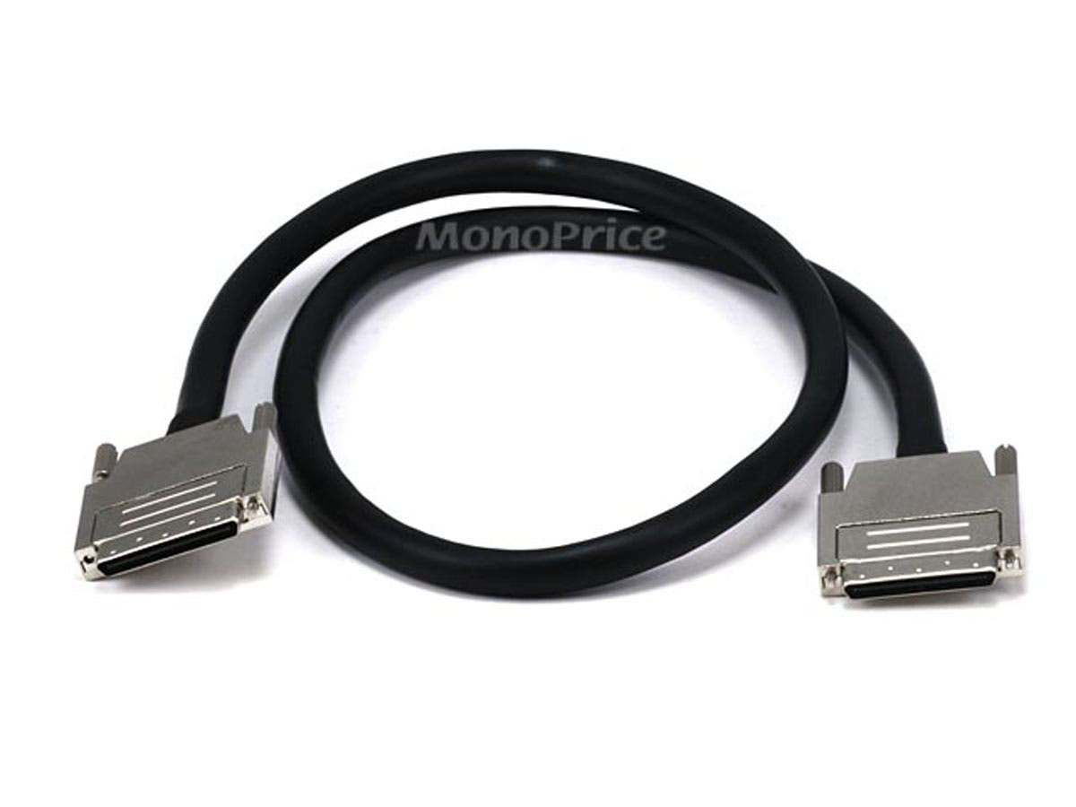 0.8 mm/0.8 mm VHDCI 0.8mm SCSI Cable - 3ft , Offset