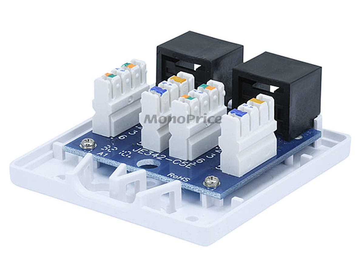 Rj45 Surface Mount Jack Wiring Diagram 38 Images Rca 70913 Box Cat5e Double Monoprice Com At Cita