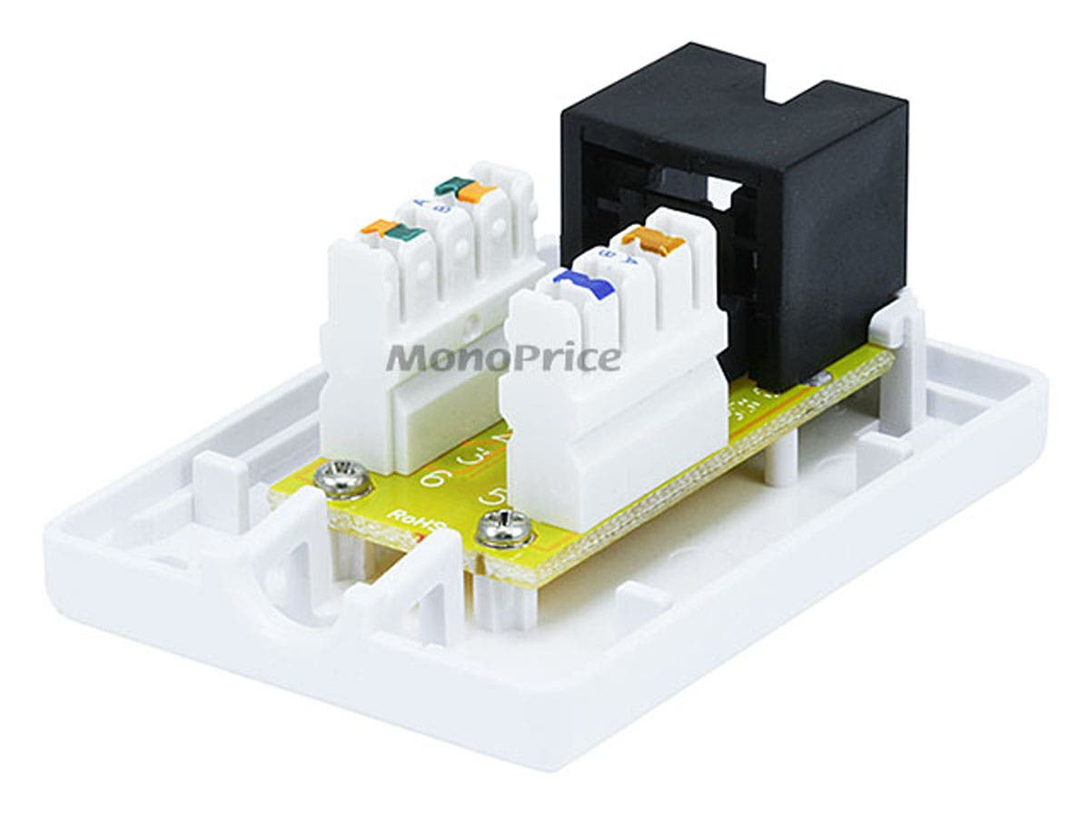 Monoprice Surface Mount Box Cat6 Single Biscuit Jack Wiring Small Image 3