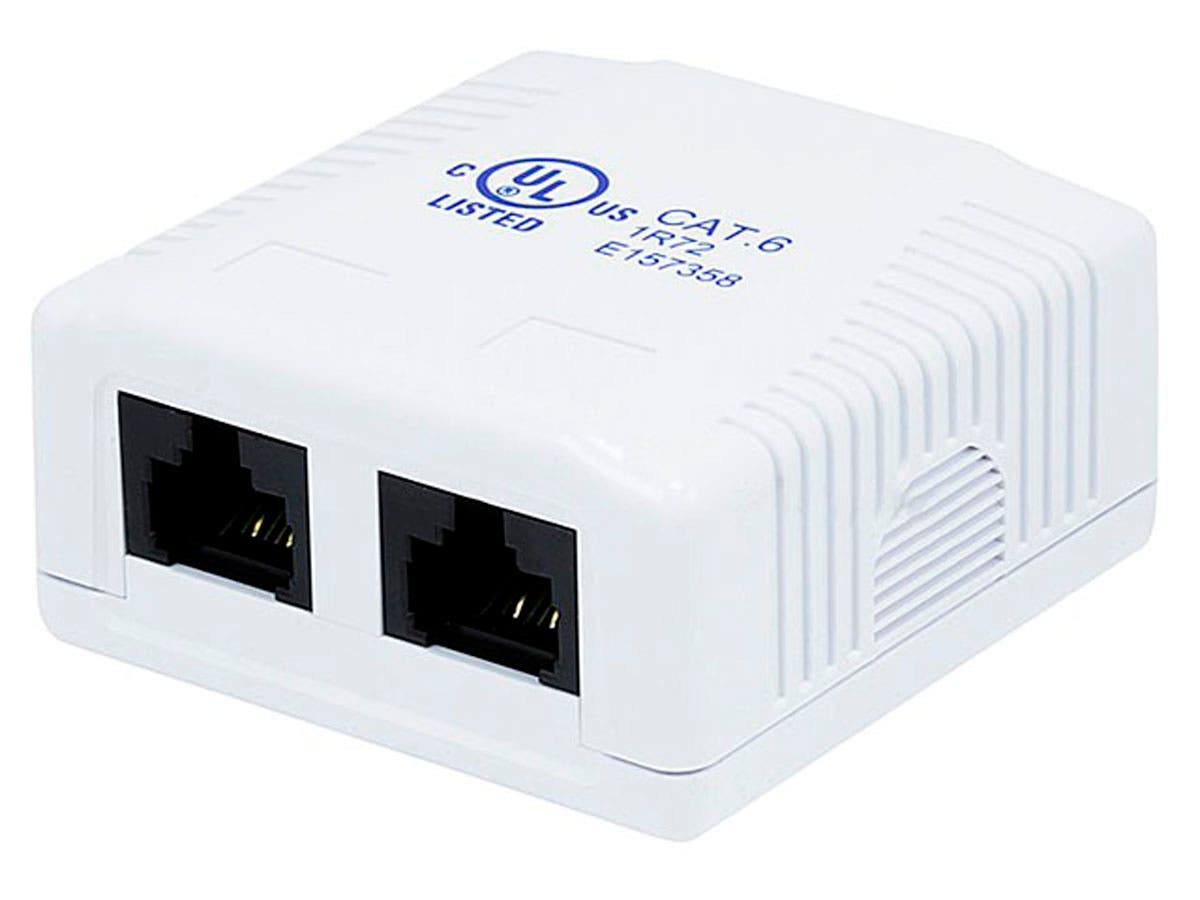 Monoprice Surface Mount Box Cat6 Double-Large-Image-1