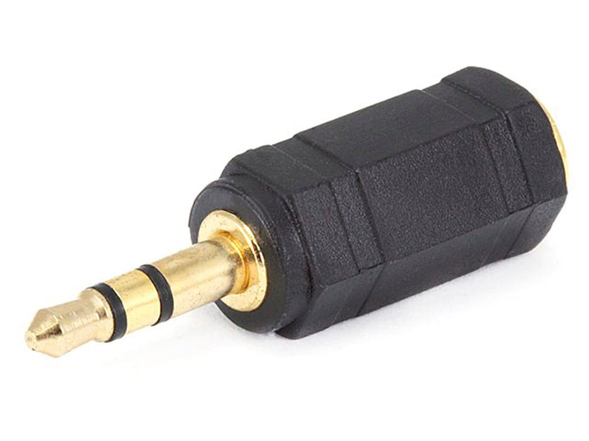 3.5mm TRS Stereo Plug to 2.5mm TS Mono Jack Adapter, Gold Plated