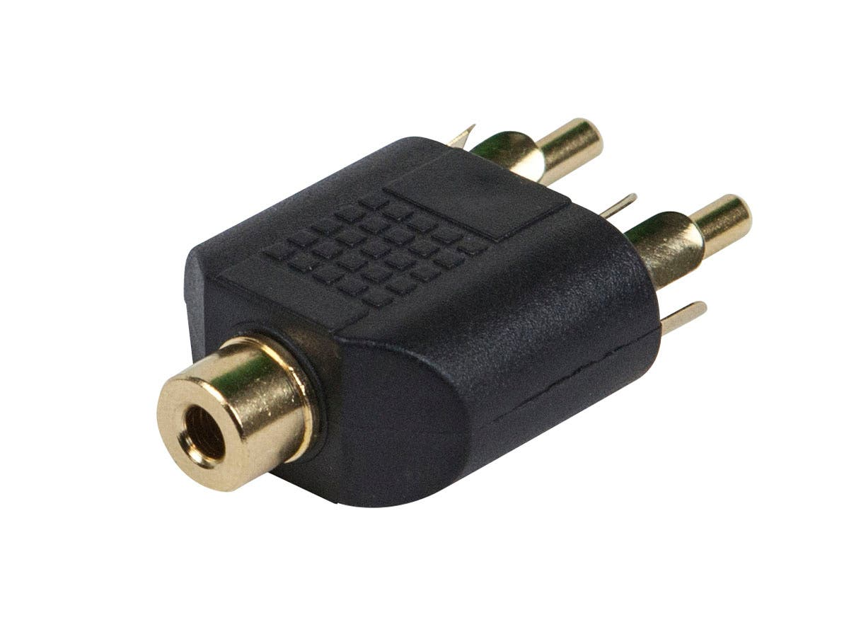 3.5mm TRS Stereo Jack to 2x RCA Plug Splitter Adapter, Gold Plated
