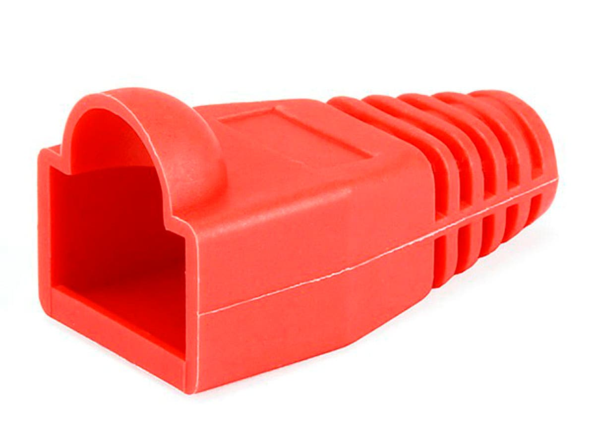 RJ45 Strain Relief Boots, 50 pcs/pack, Red