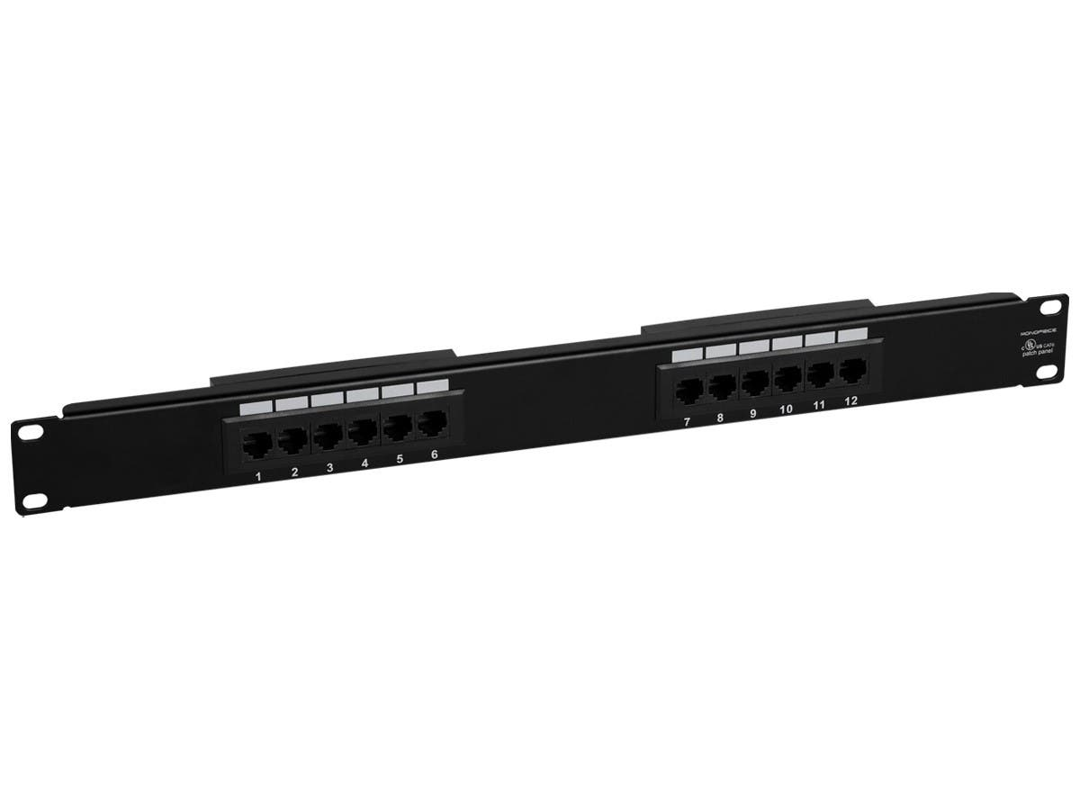 Monoprice 12-port Cat6 Patch Panel, 110 Type (568A/B Compatible)-Large-Image-1