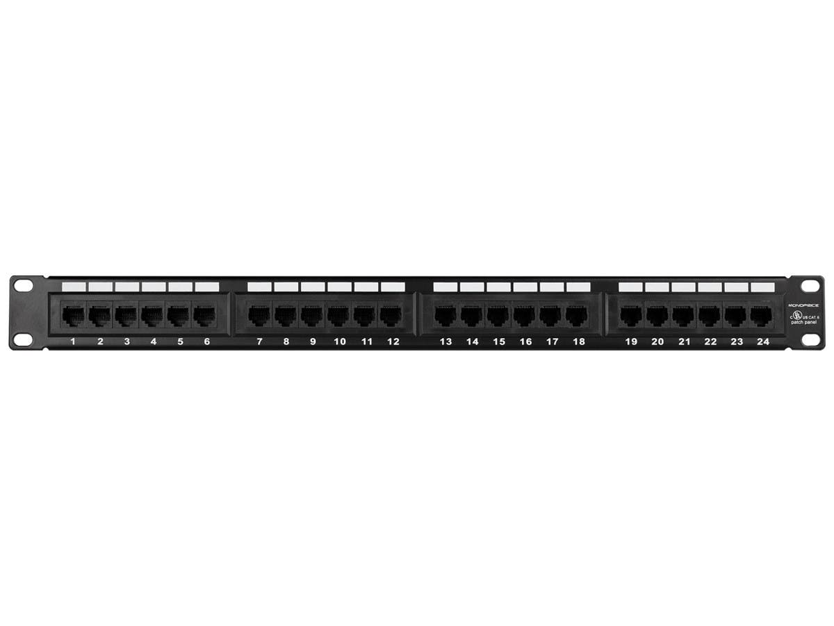 24-port Cat6 Patch Panel, 110 Type (568A/B Compatible)