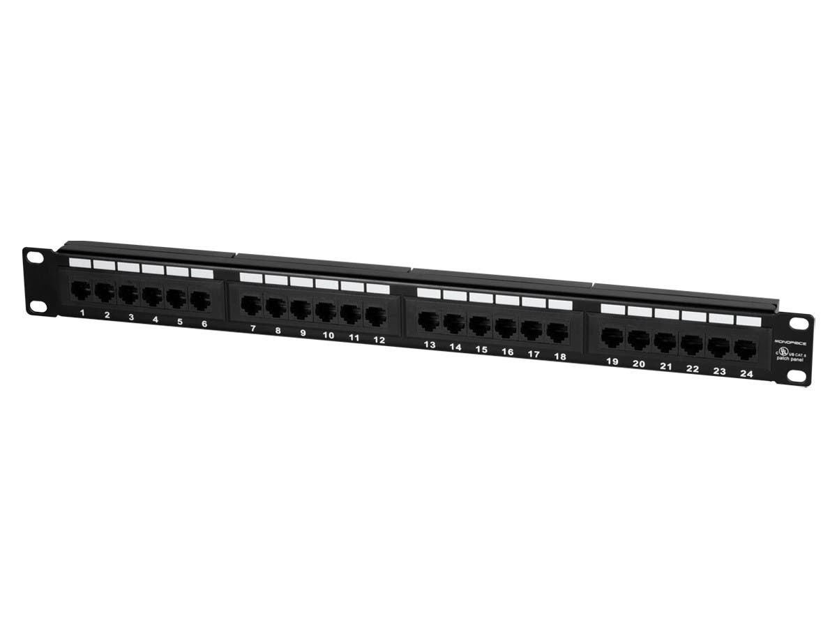 72533 24 port cat6 patch panel, 110 type (568a b compatible) monoprice com cat5e patch panel wiring diagram at virtualis.co