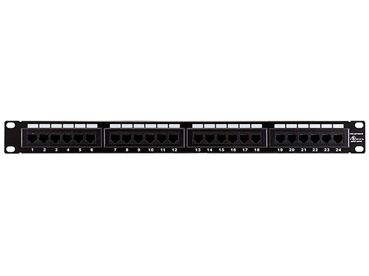 24-port Cat5e Patch Panel, 110 Type (568A/B Compatible)