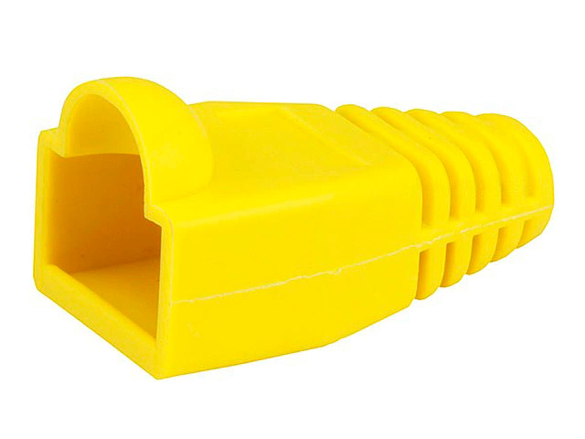 RJ45 Strain Relief Boots, 50 pcs/pack, Yellow