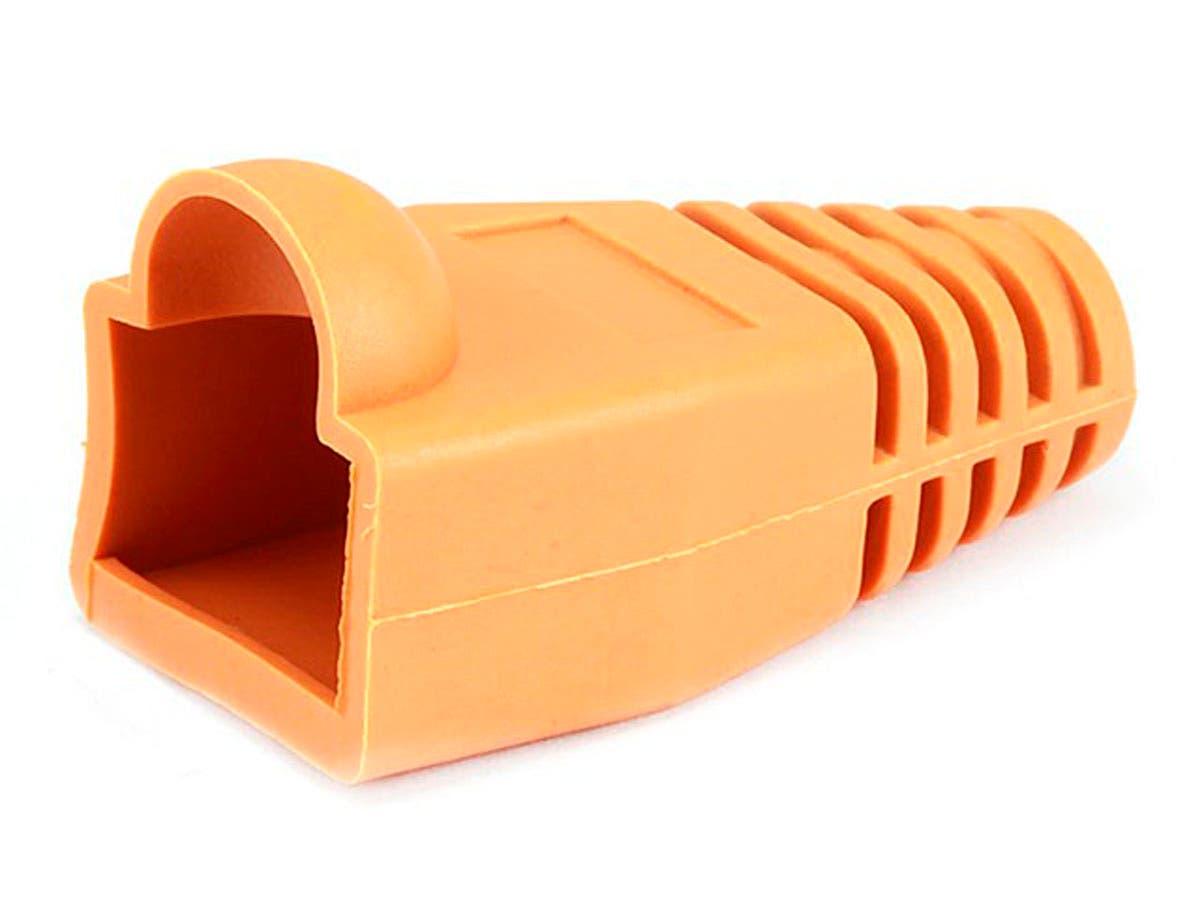 RJ45 Strain Relief Boots, 50 pcs/pack, Orange