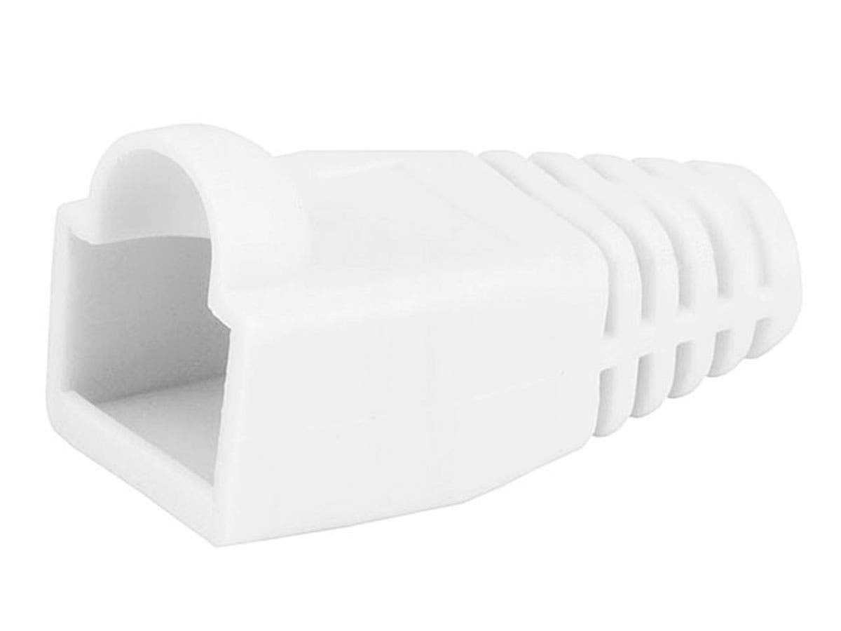 RJ45 Strain Relief Boots, 50 pcs/pack, White