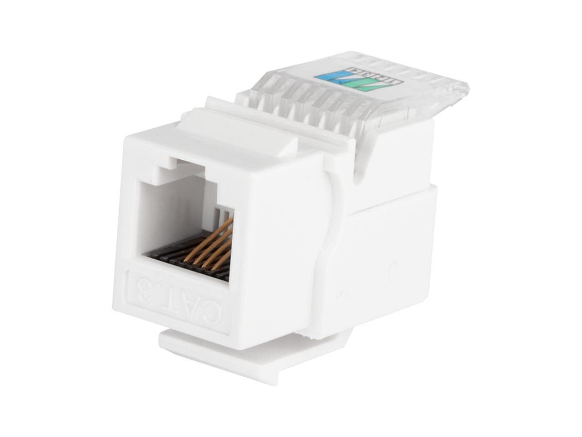 RJ11 Toolless Keystone Jack, White