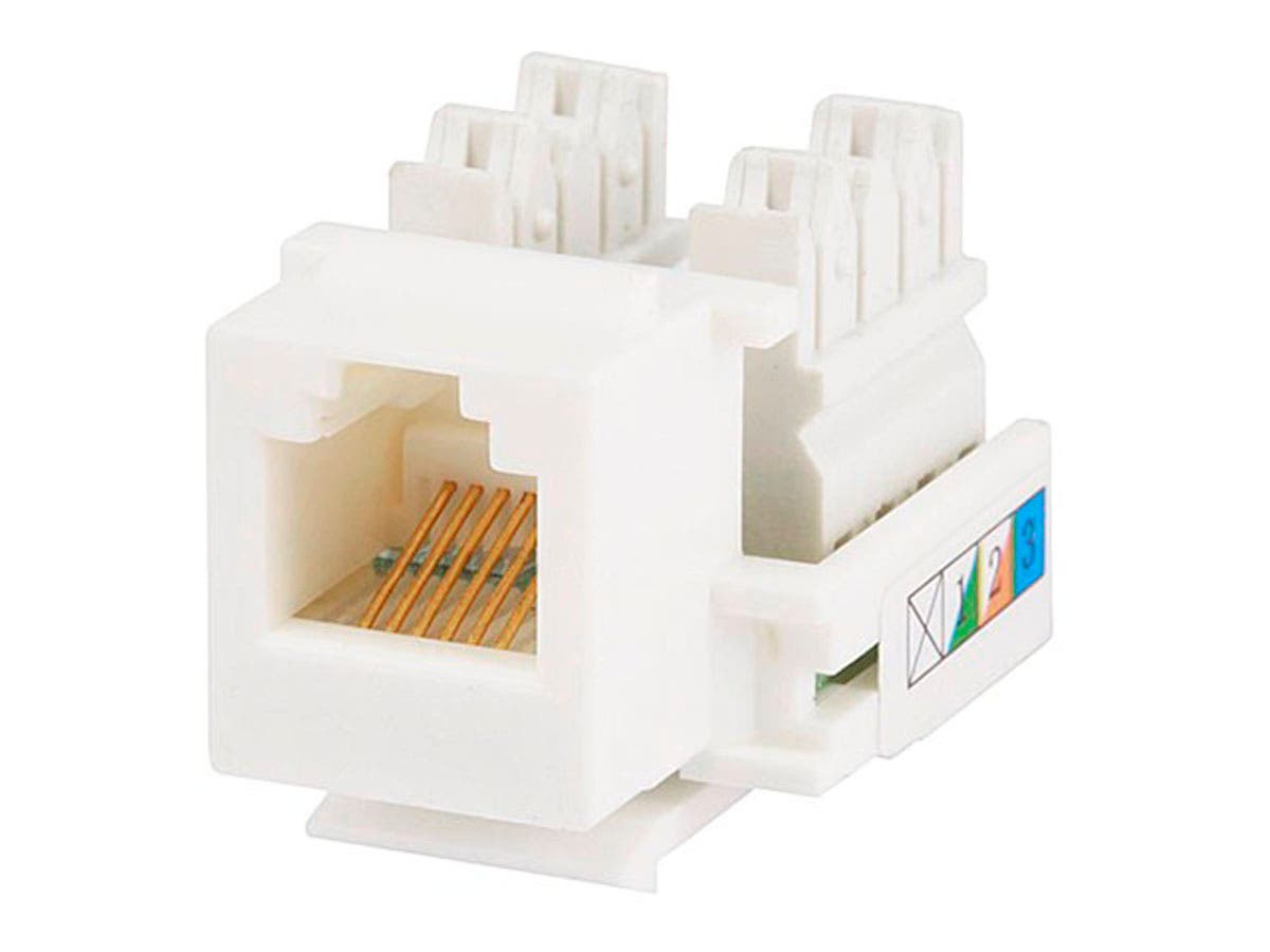 monoprice rj12 keystone jack, 110 type, white monoprice comconnect with us