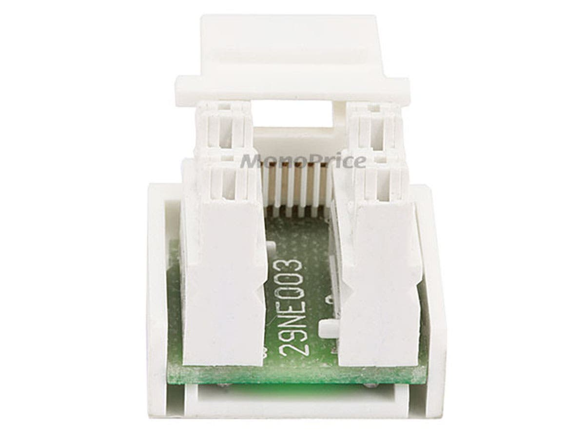 Monoprice Rj12 Keystone Jack 110 Type White Details About 1 X 35mm Stereo Female To Wiring Block Small Image 2