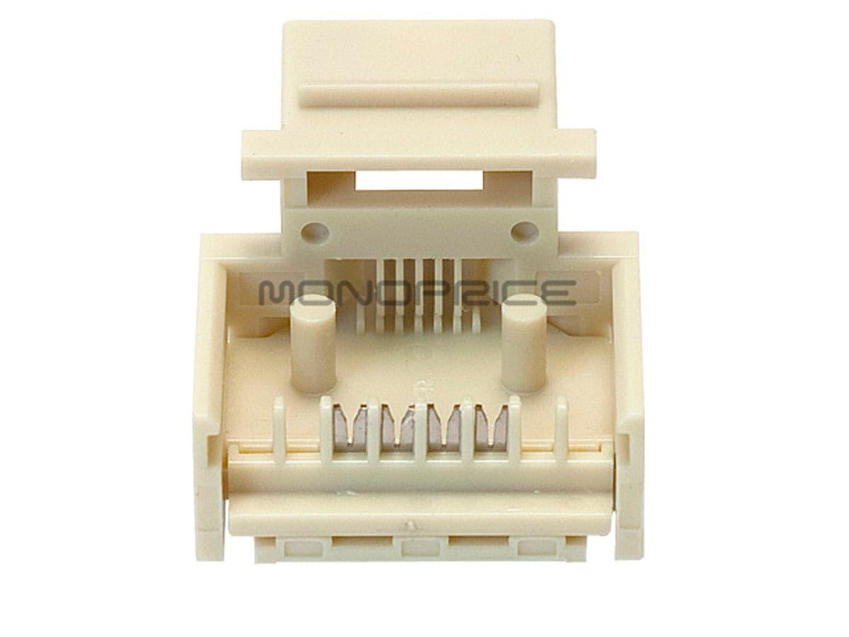 Monoprice Rj11 Toolless Keystone Jack Ivory Wiring Related Keywords Suggestions Phone Small Image 2