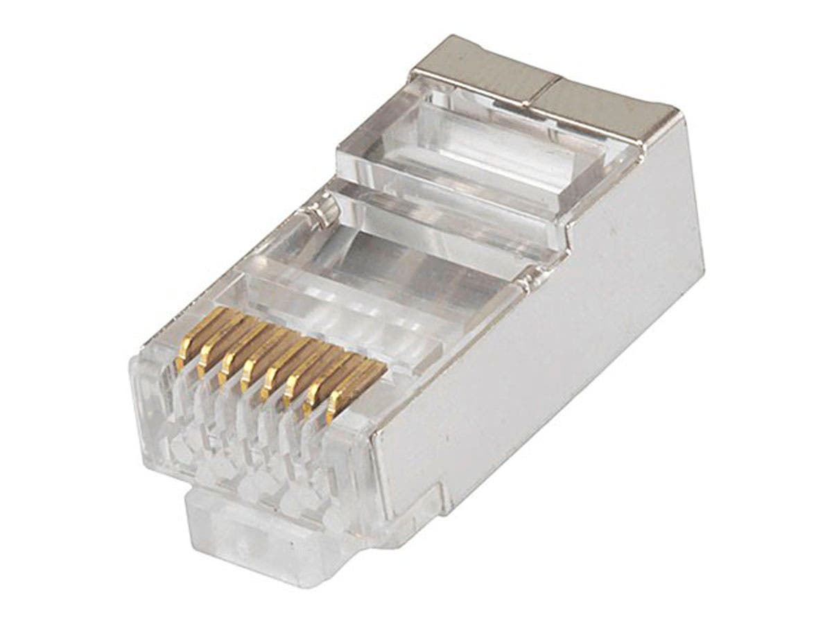 monoprice 8p8c rj45 shielded plug for stranded cat6 ethernet cable