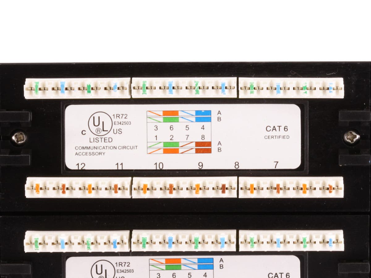 monoprice 48 port cat6 patch panel 110 type 568a b compatible rh monoprice com CAT5 RJ45 Wiring-Diagram Category 6 Wiring Diagram
