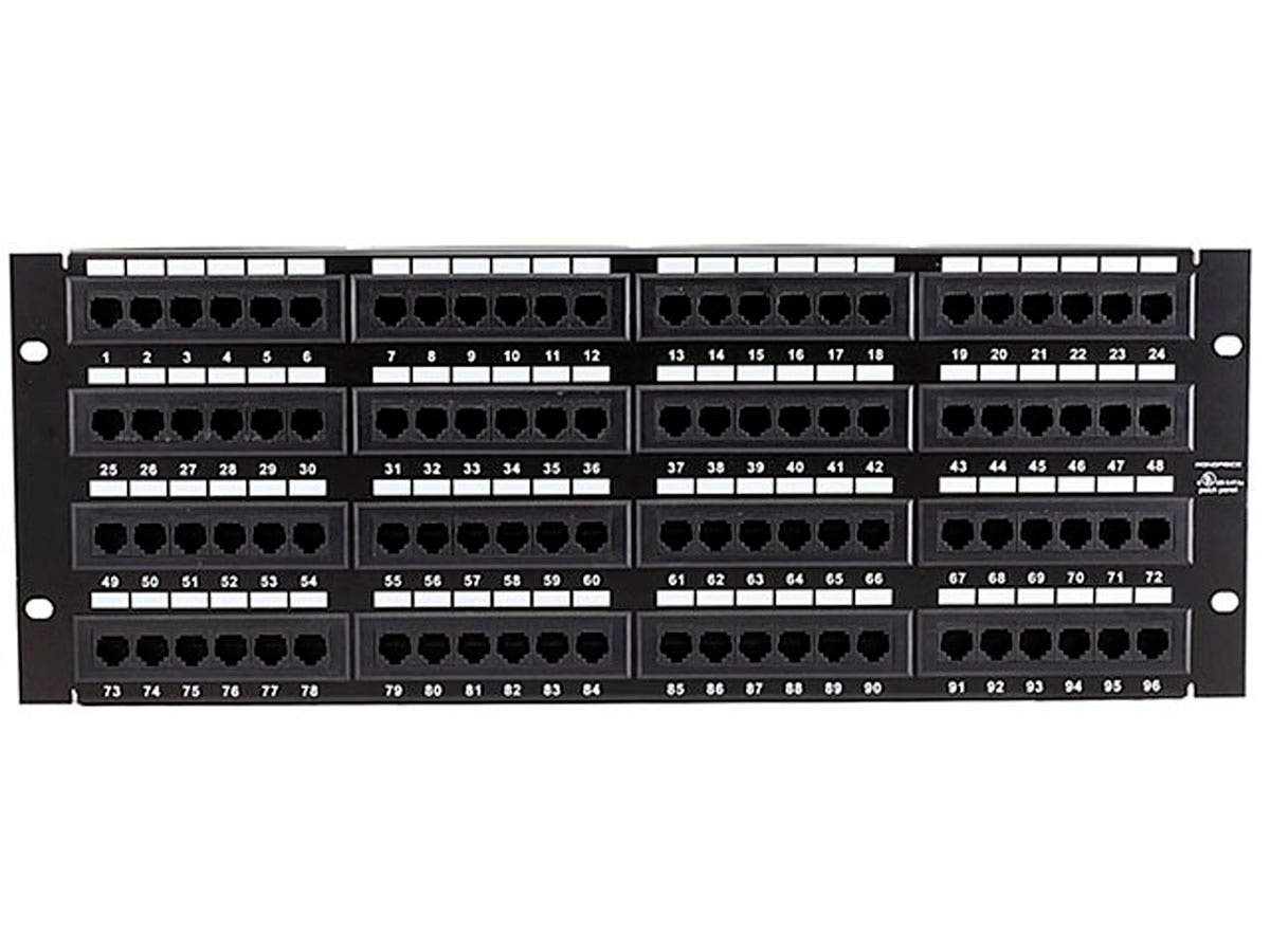 Monoprice 96-port Cat5e Patch Panel, 110 Type 568A/B Compatible)-Large-Image-1