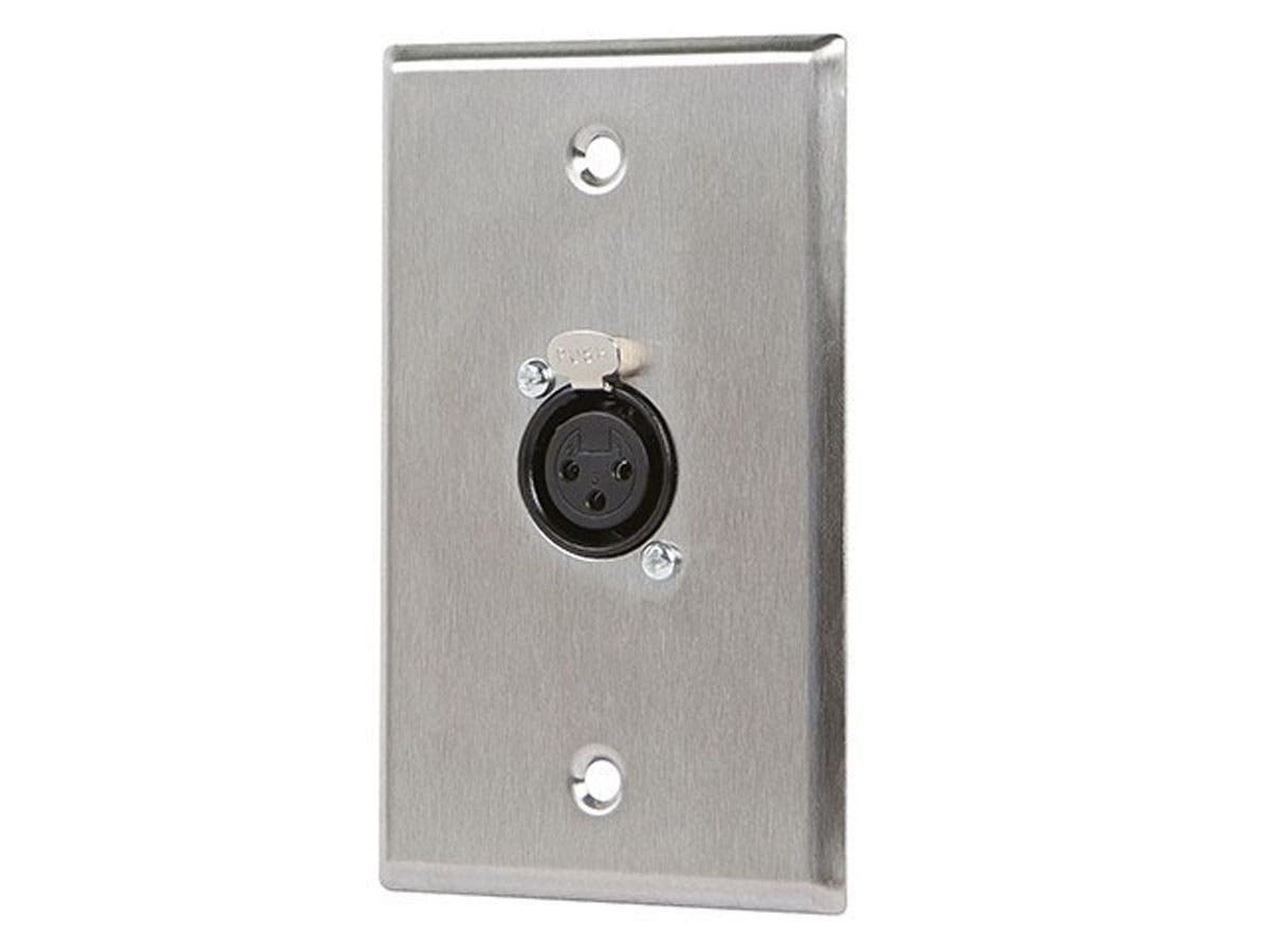 Monoprice 1-port 3-pin XLR Female Zinc Alloy Wall Plate-Large-Image-1