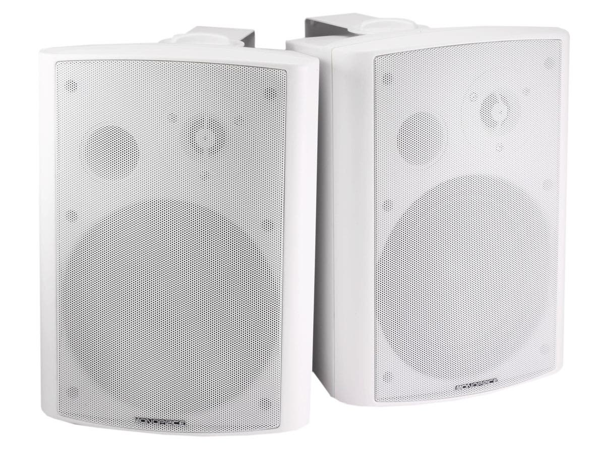 2-Way Active Wall Mount Speakers (Pair), 25W, White