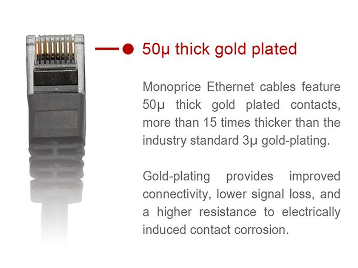 Monoprice Cat6 Ethernet Patch Cable Snagless Rj45 Stranded Panel Wiring Help 550mhz Utp Pure