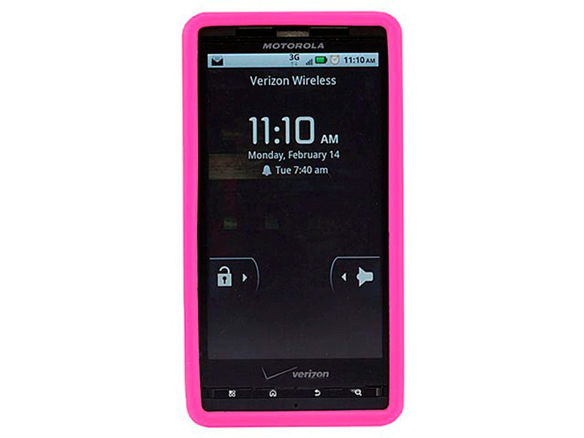Monoprice Silicone Case for Motorola Droid X and Droid X2, Pink-Large-Image-1