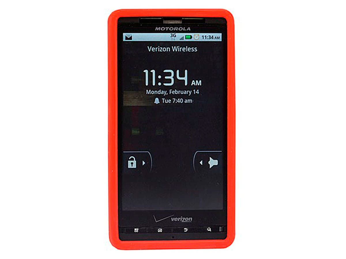 Silicone Case for Motorola Droid X and Droid X2, Red