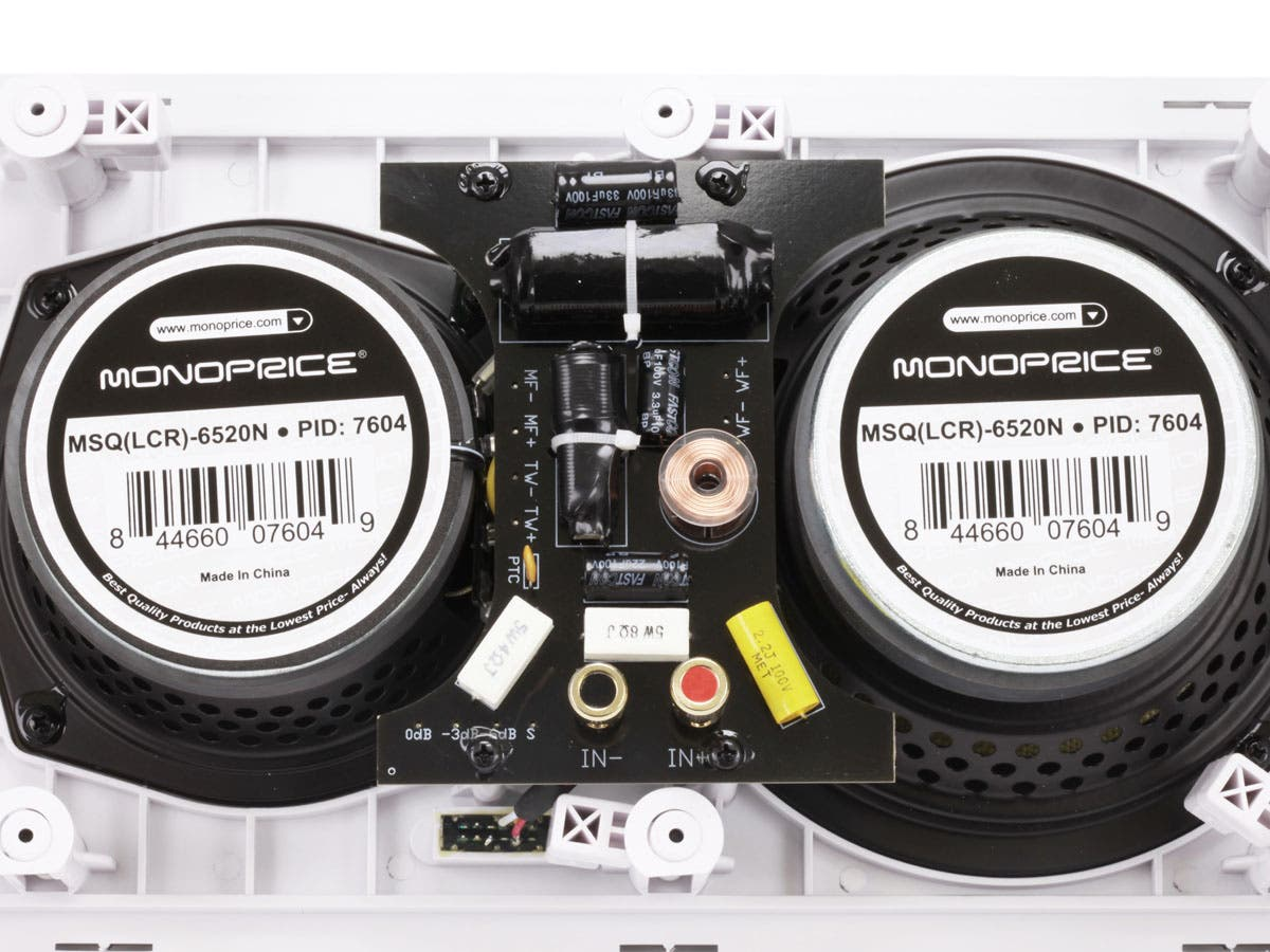 Monoprice Caliber In-Wall Speakers 6 5in Fiber 3-Way with Concentric