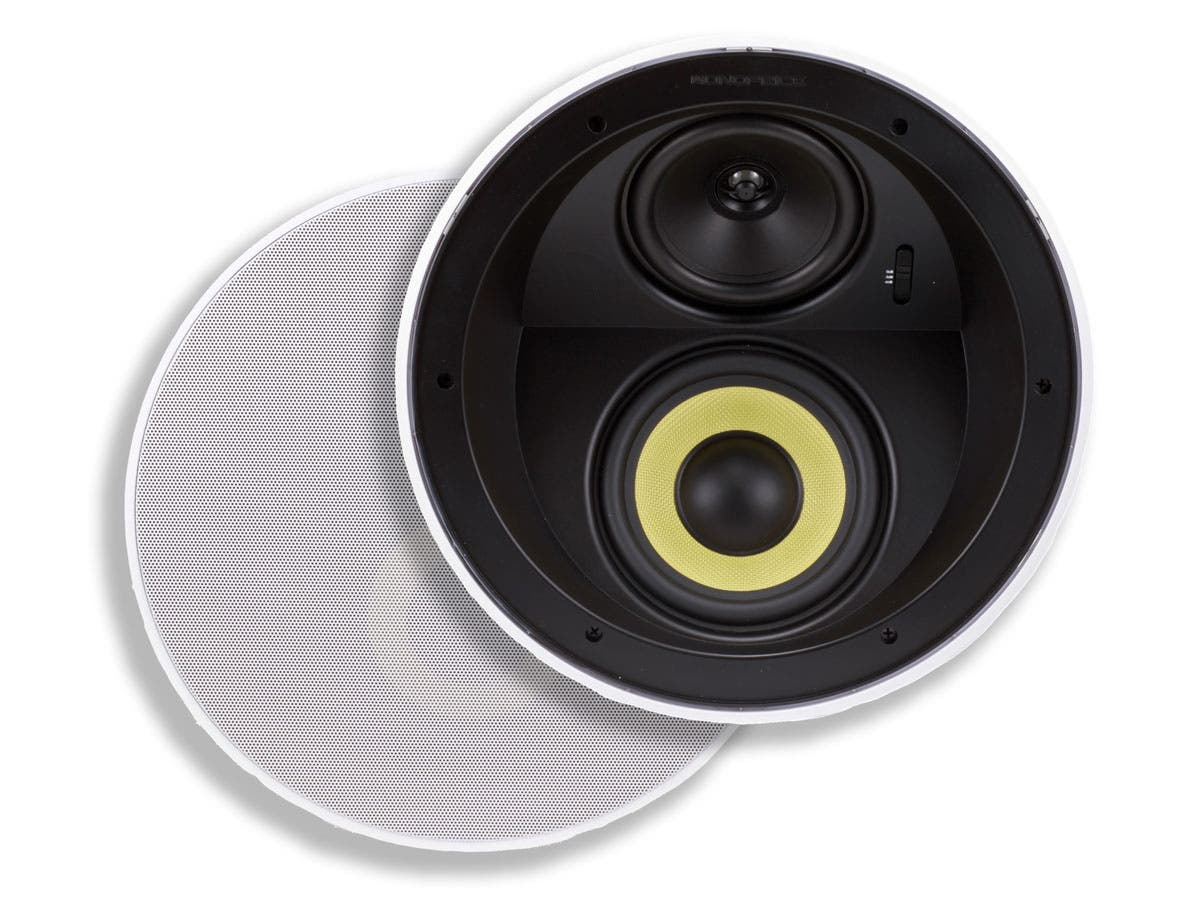 Caliber Ceiling Speakers 6.5-Inch Fiber 3-Way with Concentric Mid/Highs (pair)